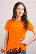 Футболки поло с коротким рукавом, женские оранжевого цвета.