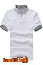 Бело-серая футболка поло