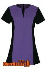 Черно-фиолетовая форменная блузка