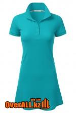 Голубое платье поло