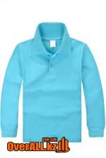 Голубая футболка поло для детей
