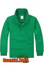 Темно-зеленый детский лонгслив