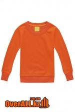 Детская оранжевая толстовка-свитшот