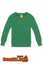 Детская зеленая толстовка-свитшот