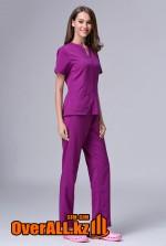 Фиолетовый женский медицинский костюм