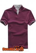 Фиолетово-серая футболка поло