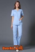 Голубой женский медицинский костюм