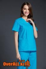 Женский голубой медицинский костюм