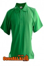 Зеленая футболка поло