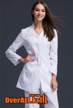 Укороченный медицинский халат с брюками