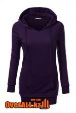 Женская фиолетовая толстовка-худи