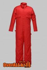 Красный рабочий комбинезон