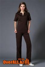Коричневый женский медицинский костюм