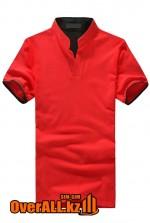 Красно-черная футболка поло