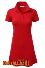 Красное платье поло