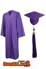 Мантия выпускника, фиолетовая