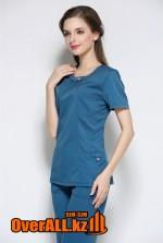 Элегантный синий медицинский костюм