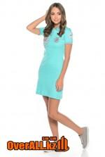 Платье поло голубое