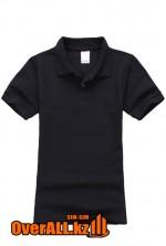 Черная футболка поло для детей