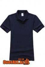 Темно-синяя детская футболка поло