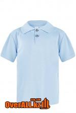 Детская рубашка поло, голубая