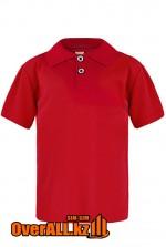 Детская рубашка поло, красная