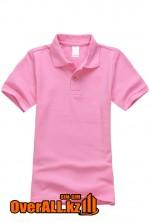 Розовая детская футболка поло
