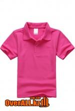 Детская футболка поло цвета фуксии