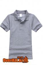 Детская футболка поло, серая