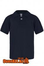 Темно-синяя детская рубашка поло