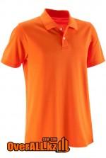 Оранжевая футболка поло