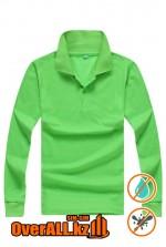 Лонгслив поло, зеленый
