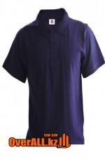 Пурпурная футболка поло