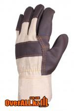 Кожаные комбинированные рабочие перчатки