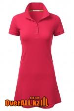 Платье поло цвета фуксии