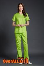 Салатовый женский медицинский костюм
