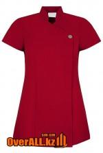 Форменная блузка, красная