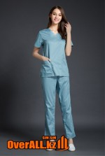 Серо-голубой женский медицинский костюм