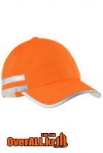 Оранжевая бейсболка со светоотражающими элементами