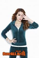 Сине-зеленый велюровый костюм