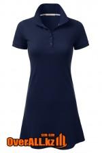Синее платье поло