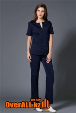 Темно-синий женский медицинский костюм