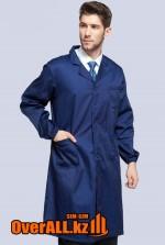 Лабораторный халат, темно-синий