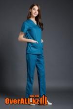 Синий женский медицинский костюм