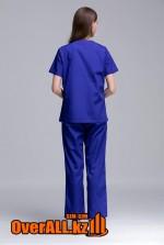 Женский синий медицинский костюм