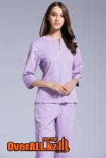Медицинский костюм с удлиненным рукавом, сиреневый