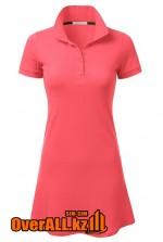 Розовое платье поло