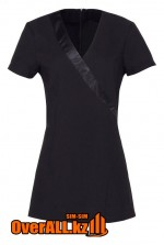 Черная форменная блузка, топ