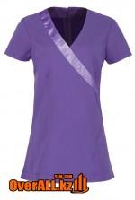 Сиреневая форменная блузка, топ