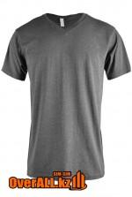 Серая футболка с V-образным вырезом